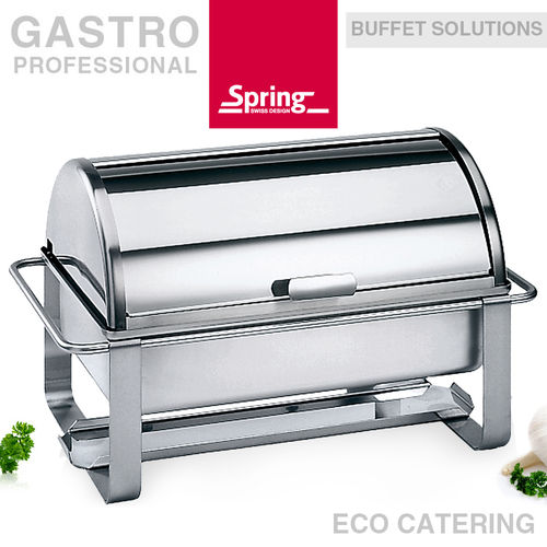 Spring - Chafing dish GN 1/1 with roll-top lid