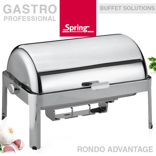 Spring - Chafing dish GN 1/1 with roll-top lid - RONDO