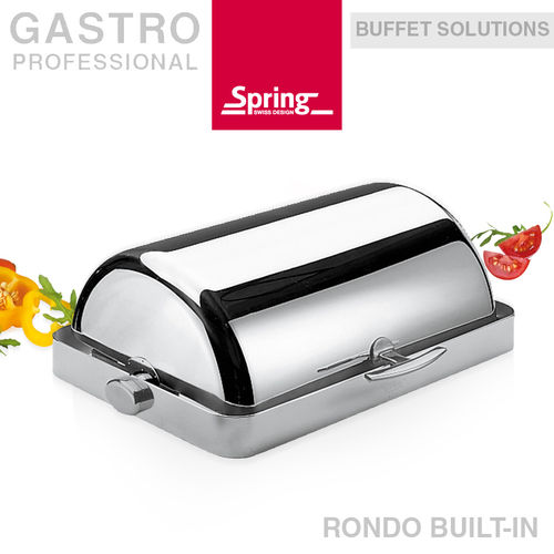 Spring - Chafing dish with roll-top lid - RONDO BUILT-IN