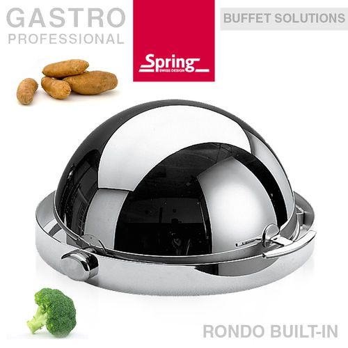 Spring - Chafing dish with roll-top lid 30 cm- RONDO BUILT-IN