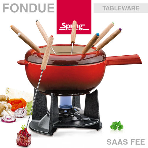 Spring - Fondue set Saas Fee