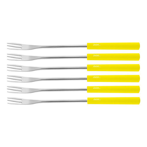 Spring - Cheese fondue forks Basic 6pcs. yellow
