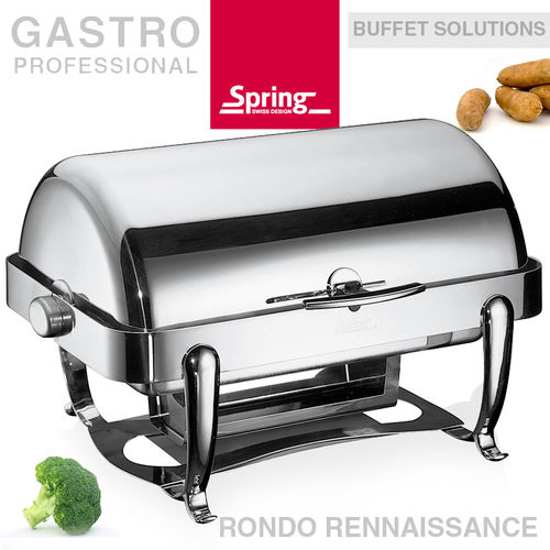 Spring - Chafing Dish GN 1/1 mit Rolltop - RONDO Rennaissance